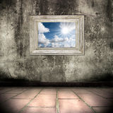 grunge interior with picture and frame Stock Photos
