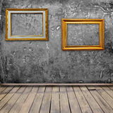Grunge interior room with photo frame Stock Photos