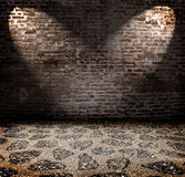 Grunge interior with spots Royalty Free Stock Photography