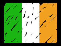 Grunge Irish flag Royalty Free Stock Photo