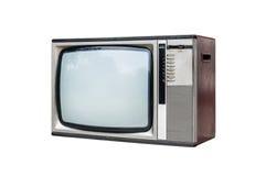 grunge isolerad televisiontappningwhite Royaltyfri Foto