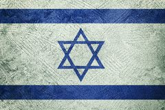 Grunge Israel flag. Israel flag with grunge texture. Grunge texture flag stock images
