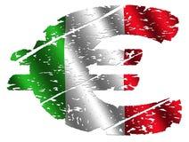 Grunge Italian Euro Royalty Free Stock Images