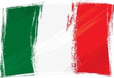 Grunge Italien Markierungsfahne Lizenzfreie Stockbilder