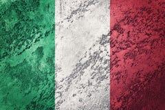 Grunge Italy flag. Italian flag with grunge texture. Stock Photo