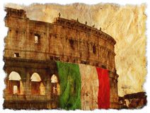 Grunge Italy - Old Rome Stock Photo