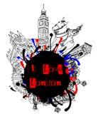 grunge ja London miłość Obrazy Royalty Free