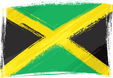 Grunge Jamaica flag. Jamaica national flag created in grunge style