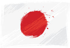 Grunge Japan flag Stock Images
