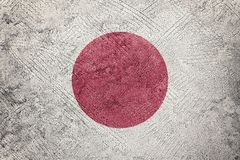 Grunge Japan flag. Japan flag with grunge texture. Grunge texture flag stock photos
