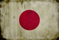 Grunge japanese flag Royalty Free Stock Photo