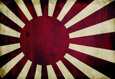 Grunge japanese navy flag Royalty Free Stock Photo