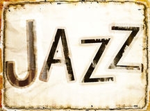 Grunge jazz background Stock Image