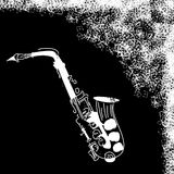 Grunge Jazzkarte Stockfotos