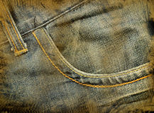 Grunge jeans Stock Images