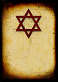 Grunge jewish background with david star Stock Images