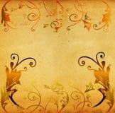 Grunge künstlerische Hand gezeichnete Landschaft Stockbilder