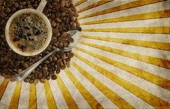 Grunge Kaffeehintergrund Stockbild