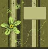 Grunge kakifarbiger Blumenhintergrund. Stockbild