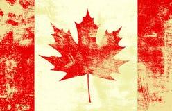 Grunge kanadensareflagga Royaltyfri Bild
