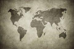 Grunge Karte der Welt vektor abbildung