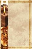 Grunge kartki bożonarodzeniowa świeczka zdjęcie royalty free
