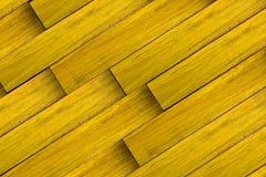 grunge kasetonuje drewnianego kolor żółty Obrazy Royalty Free