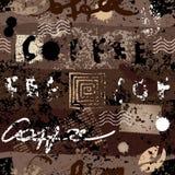 Grunge kawy wzór Zdjęcie Stock