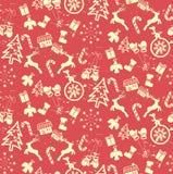 grunge Kerstmis naadloos patroon vector illustratie