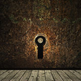 Grunge keyhole Royalty Free Stock Photo