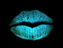 Grunge kiss lip print Stock Photo
