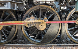 Grunge klasyka transportu kontrpary pociągu koła, rocznika styl Zdjęcie Royalty Free