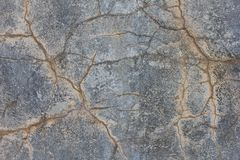 Grunge knackte Betonmauer Alte geschädigte Beschaffenheit Stockbilder