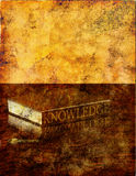 Grunge Knowledge Stock Image