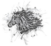 grunge koń Obrazy Stock
