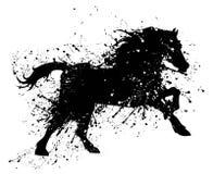 Grunge koń Fotografia Royalty Free