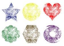 Grunge kolorowi kształty Fotografia Royalty Free