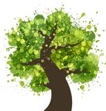 Grunge kolorowy drzewo Obraz Royalty Free