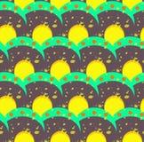 Grunge kolorowy geometryczny bezszwowy wzór Zdjęcia Stock