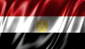Grunge kolorowy tło, flaga Egipt Obrazy Stock