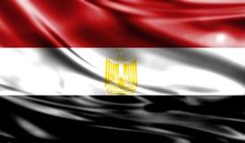 Grunge kolorowy tło, flaga Egipt Zdjęcia Stock