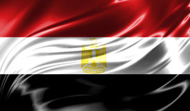 Grunge kolorowy tło, flaga Egipt Obraz Royalty Free