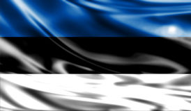 Grunge kolorowy tło, flaga Estonia Zdjęcia Stock