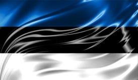 Grunge kolorowy tło, flaga Estonia Zdjęcia Royalty Free