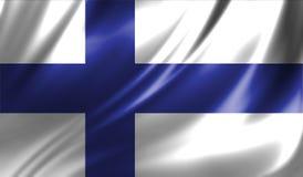 Grunge kolorowy tło, flaga Finlandia Obraz Stock