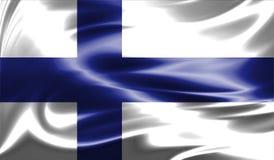 Grunge kolorowy tło, flaga Finlandia Fotografia Stock