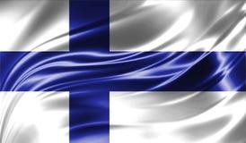 Grunge kolorowy tło, flaga Finlandia Obrazy Royalty Free