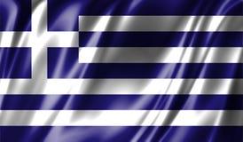 Grunge kolorowy tło, flaga Grecja Zdjęcie Stock