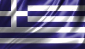Grunge kolorowy tło, flaga Grecja Fotografia Royalty Free