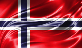 Grunge kolorowy tło, flaga Norwegia Fotografia Royalty Free